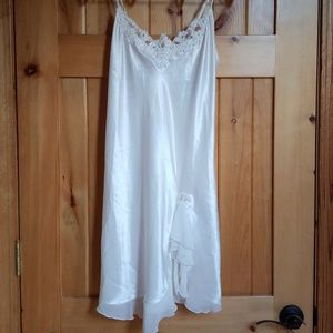 Linea Donatella Satin Chemise Bridal Wedding Sz M